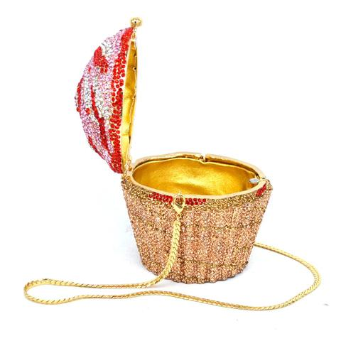 Designer Brand Luxury Crystal Evening Bag Fashion Cupcake Diamond Clutch Soiree Purse Women Wedding Bride Cake Handbags  SC515 Multan
