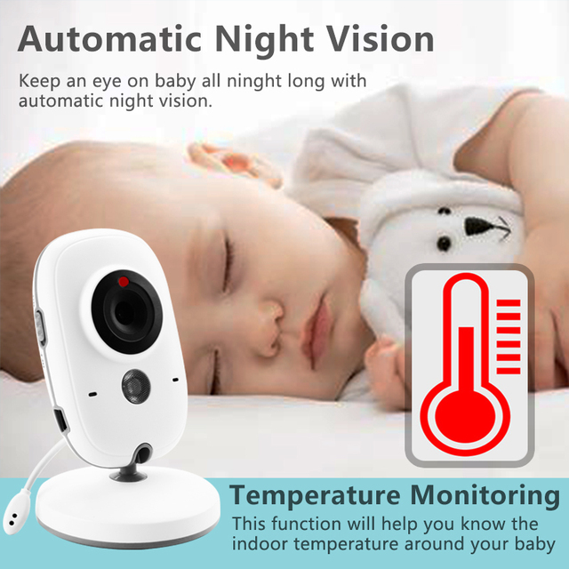 Wireless Baby Monitor Camera with LCD and Night Vision