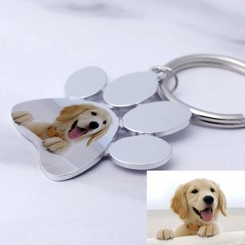 Personalized Dog Keychain,Custom Photo Keychain,Engraved Pet Photo Keychain,Pet Lover Gift, New Year Gift custom cat keychain custom dog keychain personalized keyring animal photo keychain pet lovers gift