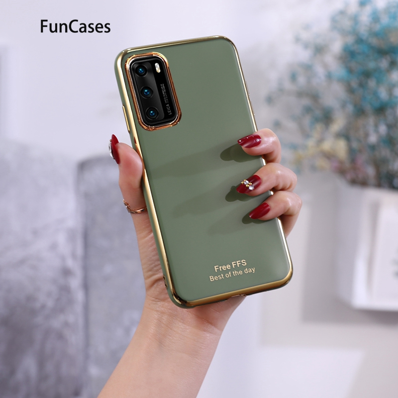 Grid Cases For Huawei P20 Quality Huawei P40 Pro Y6 2018 Y5 <font><b>2019</b></font> P30 P20 Lite Y9 Prime <font><b>Y7</b></font> Portable Soft Silicone Protector image