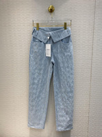 2020 New Spring&summer Straight Cotton Women Jeans With Ringer Hem