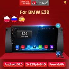 Junsun V1 Android 10.0 Ai Voice Radio Coche con Pantalla para BMW E39 con funciones GPS de Navegación, Mandos de Volante No es Autoradio de 2 DIN