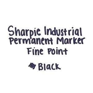 Image 5 - 12 Unids/lote 1mm Sharpie Marcadores Industriales y Permanentes de Tinta Negra No Se Descolora Hasta Calor 500F Se Seca Rápido