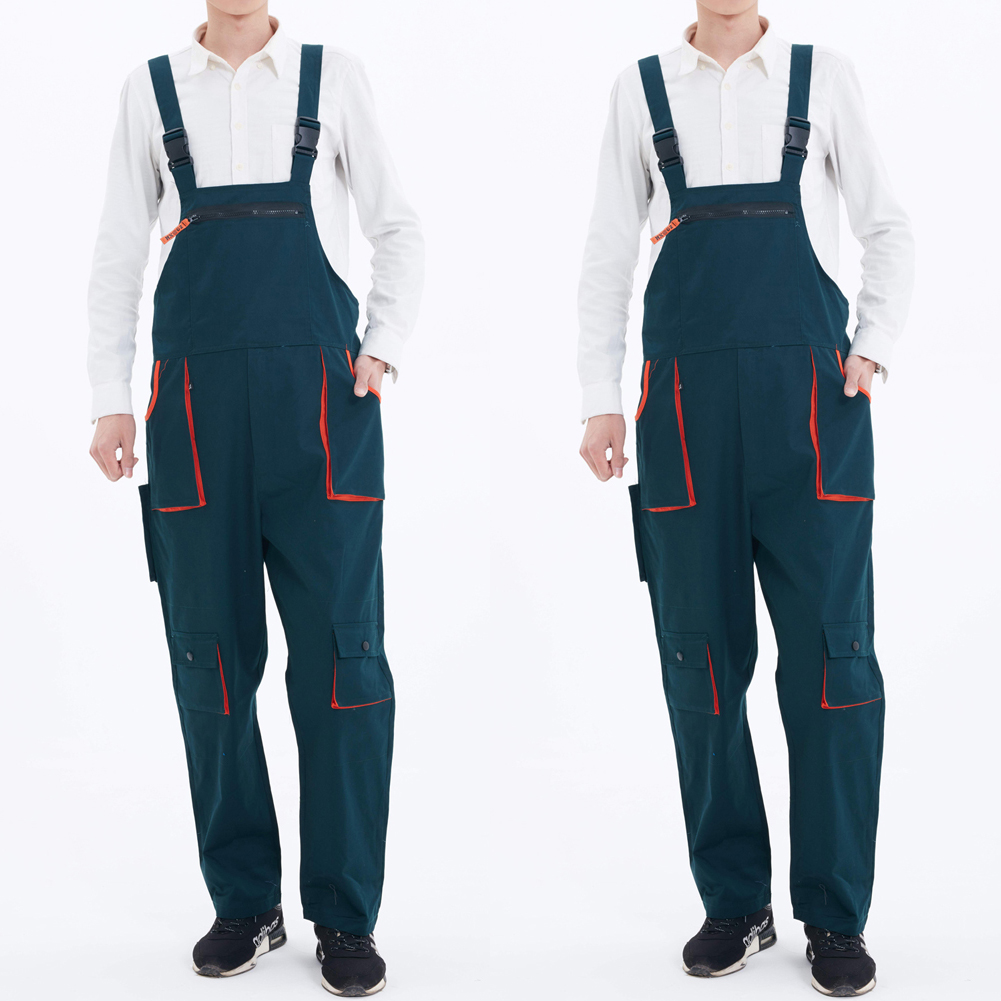 Meihuida Men Fashion Casual Heavy Duty Work Jumpsuit Coveralls Overalls Mechanic Work Wears Tooling Belt Pants