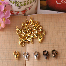 50pcs diy accessories 14mm and 16mm various color alloy lobster clasp wholesale