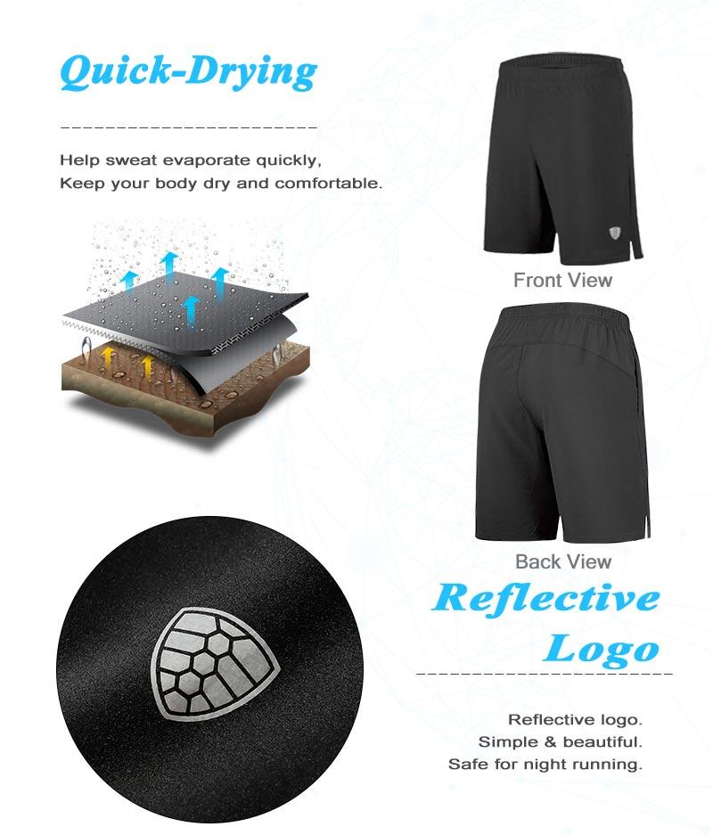 Men's Summer Running Zipper Pocket for Training Shorts