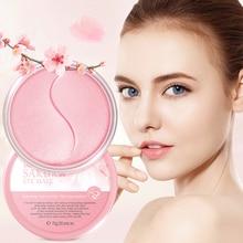 LAIKOU Cherry Blossoms Collagen Eye Mask Moisturizing Gel Eye Patches Remove Dark Circles Anti Age Bag Eye Wrinkle Skin Care