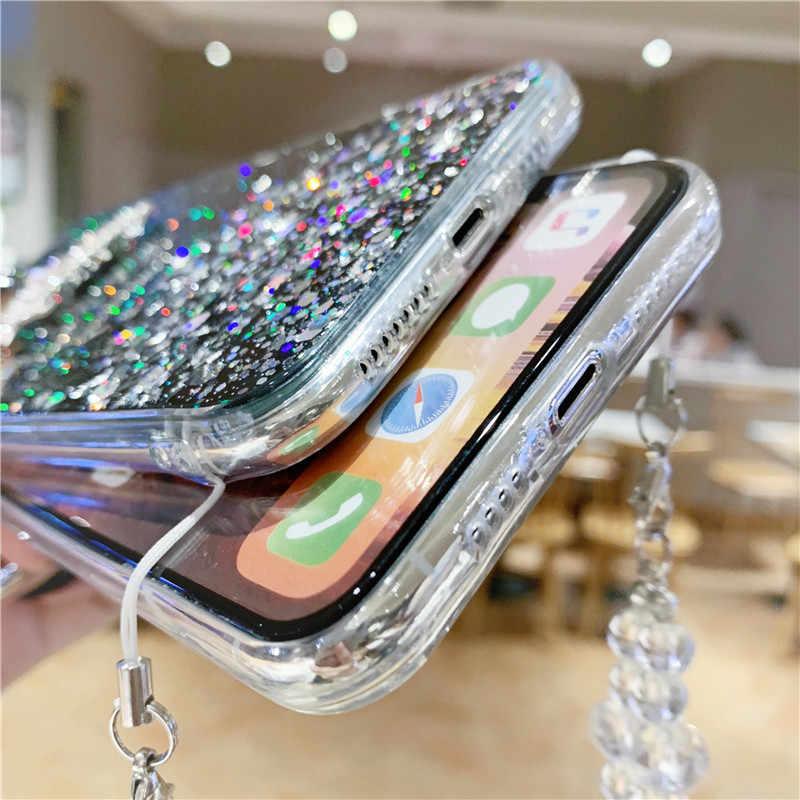 Lovebay цепочка лента ожерелье чехол для телефона со шнуром для переноски Чехол для iPhone 11Pro XS Max XR X XS 7 11 8 6 6s Plus
