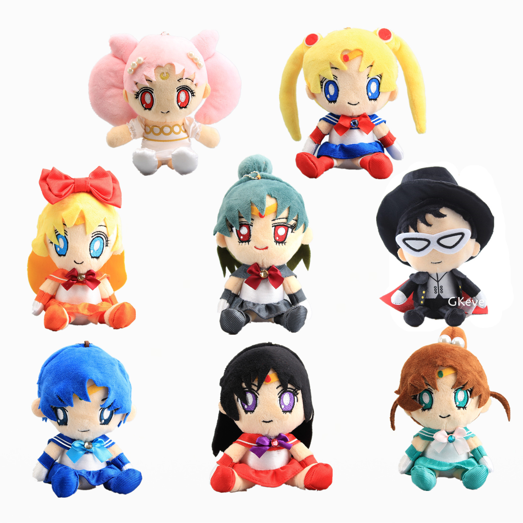 17-20 Cm Sailor Moon Tsukino Usagi Chibi Usa Sailor Mars Jupiter Mercury Venus Pluto Plush Stuffed Toys Doll Peluche Kids Gift