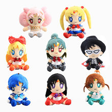 Peluche Sailor Moon Tsukino Usagi Chibi Usa, 17-20 cm, jouet en Peluche, cadeau pour enfants, marin, Mars, Jupiter, Mercury, Venus, Pluto