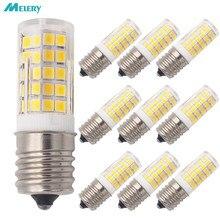 Lâmpada LED Iluminador E17 para Microondas 6W AC 110/220V 2835 SMD Cerâmica 60W Incandescente Equivalente Cerami Quente/Frio Branco 10PACK