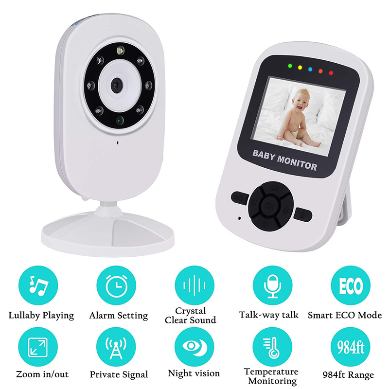 Image 2 - Neng Wireless 2.8inch Lcd Audio Video Baby Monitor Radio Nanny Music Intercom  24H Portable Baby Camera Baby Walkie Babysitter-in Baby Monitors from Security & Protection