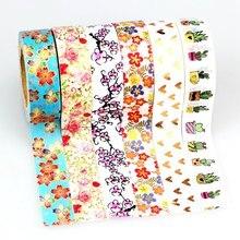 149 패턴 30 개/몫 호일 Washi 테이프 Scrapbooking 도구 마스킹 테이프 접착 테이프 스티커 장식 문구 테이프 도매