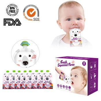 4 sztuk/8 sztuk/paczka Cartoon 200ML dzieci worek do przechowywania piersi worek na mleko wielokrotnego użytku torebka na jedzenie dla dzieci niemowlę podwójny zamek błyskawiczny karmienia torby