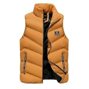 Image 5 - 2020 Waistcoat Gilet Homme Vest Mens Winter Sleeveless Jacket Men Down Vest Mens Warm Thick Hooded Coats Male Cotton Padded
