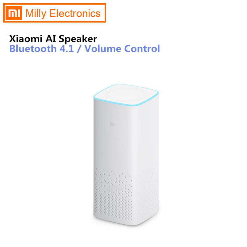 Original Xiaomi MI AI speaker wifi bluetooth voice remote control portable smart home light music player xiaoai app For Android image
