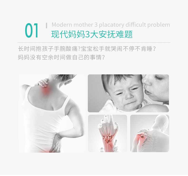 Hf763ed0e80804570836cdc5144dda3a1b Infant Newborn Baby Rocking Chair Baby Manual Non-Electric Cradle Sleeping Chair With Pendant Toy Mosquito Net