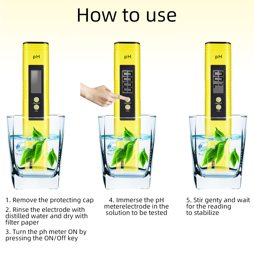 PHMeter-黄色PH06-测试仪-使用方法