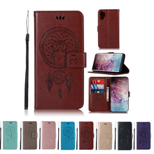 For Samsung Galaxy Note 10 Plus Case Wind Bell Owl Pattern Leather Wallet Cover for Samsung Note10 Note 10 plus Case Card Holder protective lychee pattern pu leather case w card slots holder for samsung galaxy note 3 black