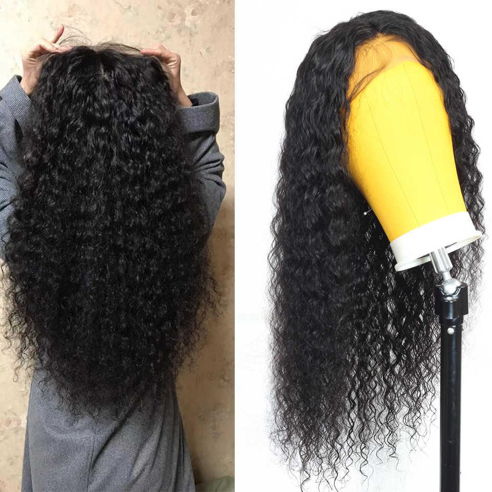 Peruka z mocnymi lokami brazylijska koronkowa peruka krótkie i długie koronkowe peruki z ludzkich włosów dla kobiet 13*4 koronkowa peruka na przód bob koronkowa peruka na przód s