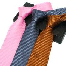 New 8CM  Jacquard Mens Ties Solid For Men Homme Cravate Gravata Corbatas Wedding Party Necktie Groom Neck wear