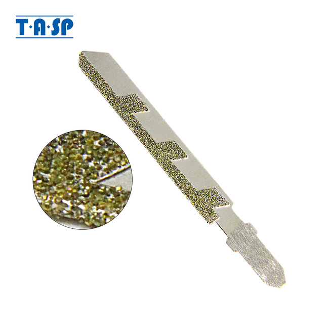 TASP 76mm Diamond Jig Saw Blades T shank Jigsaw Blade Grit 50 for Granite Tile Ceramic Cutting