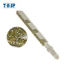 TASP hojas de sierra de plantilla de diamante, 76mm, Mango en T, sierra de calar, grano 50 para corte de cerámica de azulejos de granito