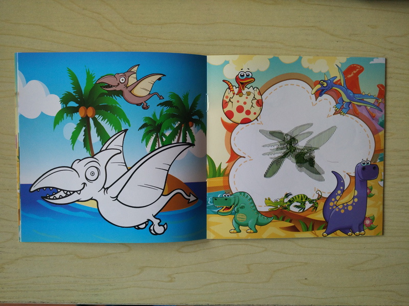 22 Pages Dinosaur Style Secret Garden Painting Drawing Kill Time