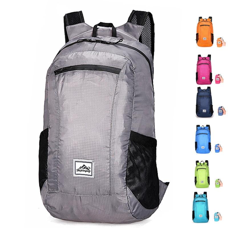 Portable Folding Backpack Men Women Shopping Outdoor Hiking Ultralight Travel Backpacks 20L Waterproof Camping Foldable Bags