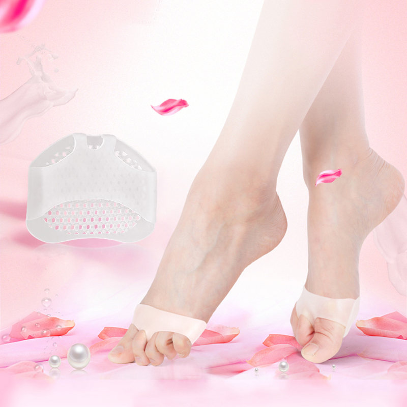 Silica Gel Padded Forefoot Pads Men Women Half Cushions Pain Relieve Callus And Small Neuromas Cushion Forefoot Foot Care TSLM1