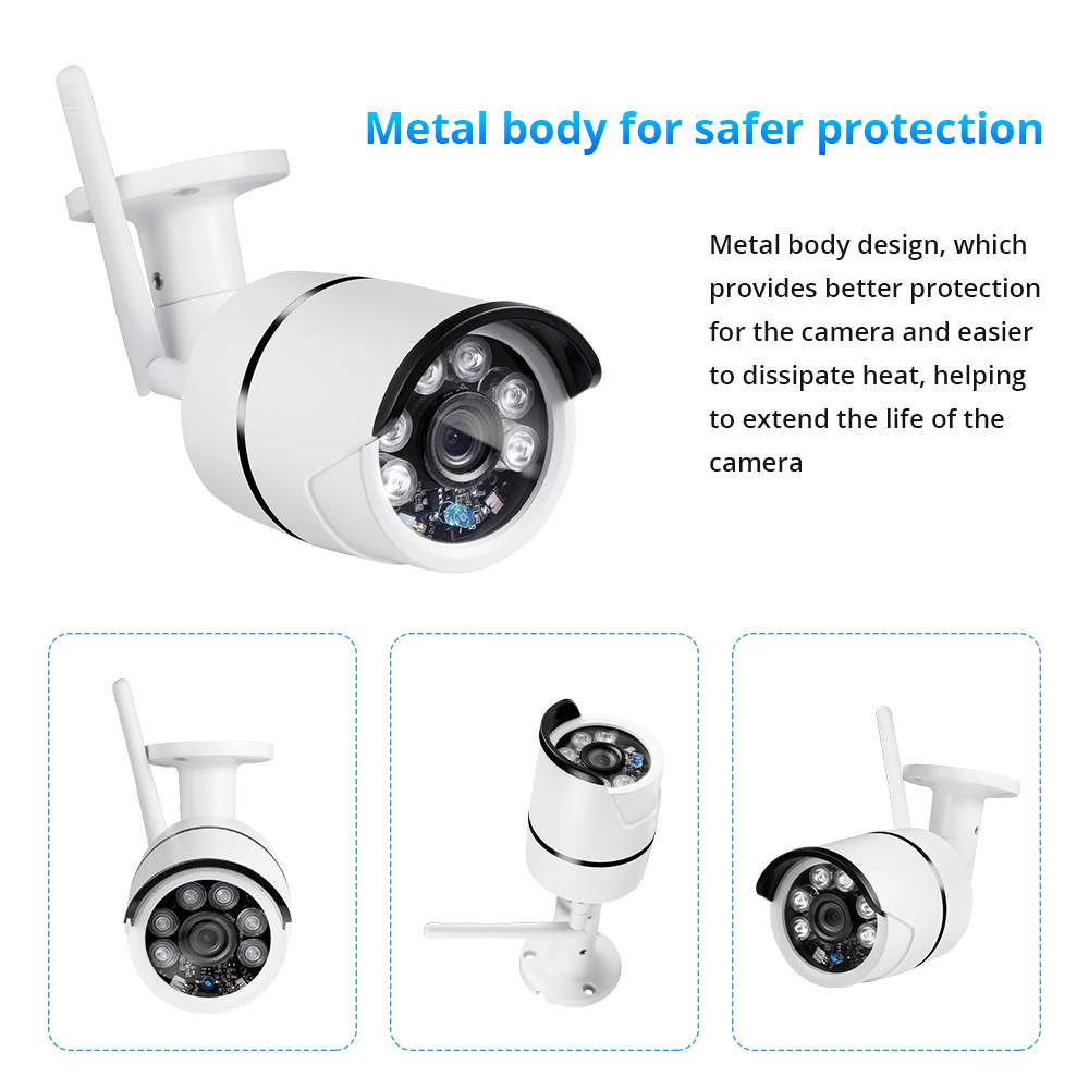 Image 3 - FUERS 4Ch NVR WIFI Video Surveillance System CCTV Security Camera System Kit 720P IR CUT Outdoor IP Camera CCTV WIFI System-in Surveillance System from Security & Protection