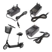 Mini elektrikli Scooter şarj güç şarj akıllı 24V 500mA ab/abd/İngiltere tak