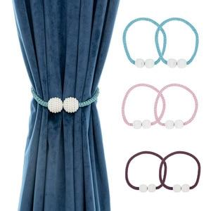 Image 1 - Perle Magnetische Vorhang Tieback Fenster Schnalle Halter Clips Hängen Ball Für Vorhang Riemen Hause Dekoration Zubehör