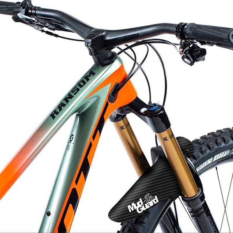 المصدات الملونة الجبهة/الخلفية الاطارات عجلة المصدات ألياف الكربون الطين الدراجة الجبلية MTB الطريق الدراجات إصلاح والعتاد الملحقات