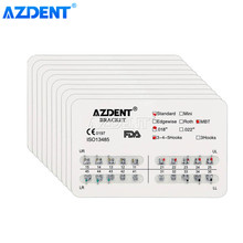 AZDENT – supports d'orthodontie dentaire, 10 paquets, attelle métallique pour soudage fendu, crochets Standard Roth/MBT/edgwise Slot.022/018 3/3-4-5