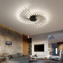 Hot sale fireworks led chandelier living room bedroom household lamp modern led ceiling chandelier simple lighting Chandelier