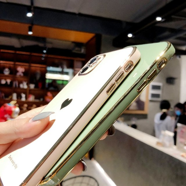 Electroplated love heart Phone Case For iPhone 12Pro 12 11 Pro Max XR XS X XS Max 7 8 Plus Shockproof Protective Back Cover capa 5