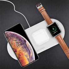 Draadloze Oplader 3 en 1 Qi chargeur sans fil pour Iphone SE 2 11 Samsung 10w Station de chargement pour Airpods Pro Apple Watch