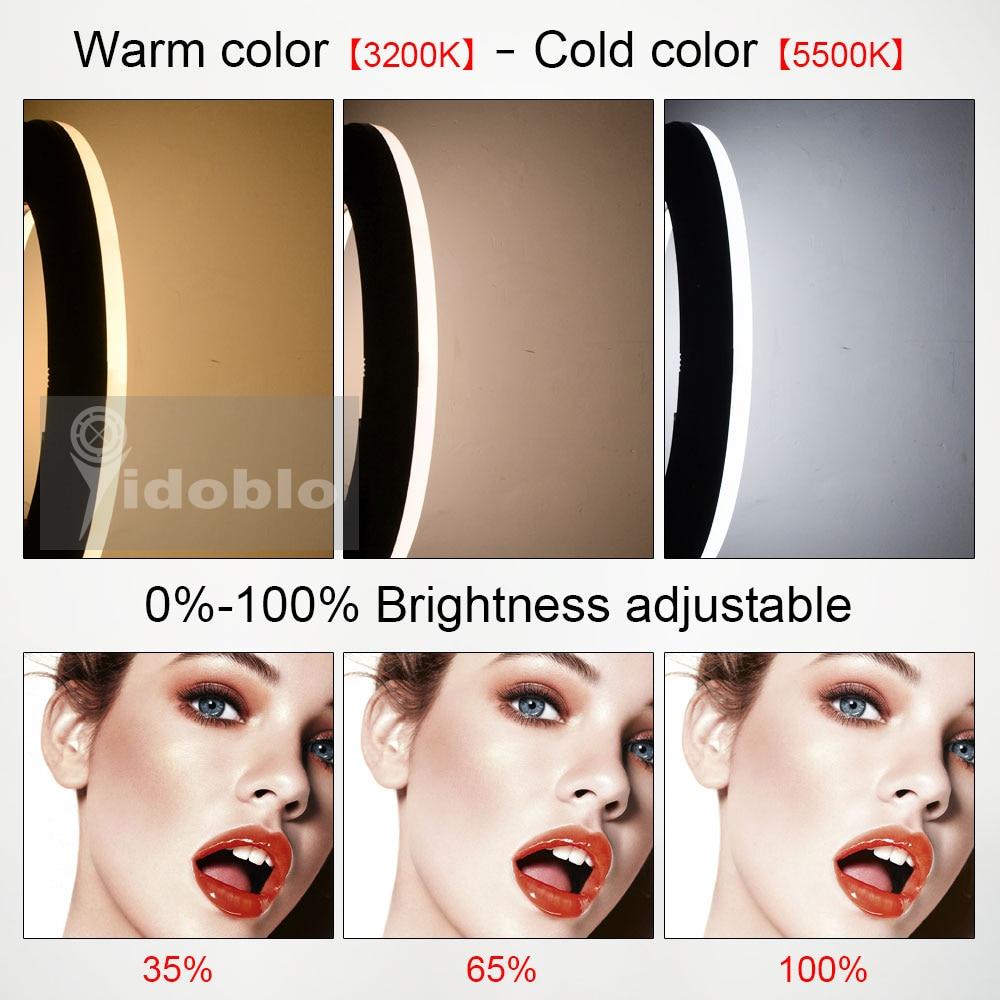 Hf7653a64cb08438495ec0fad30c47241p Yidoblo 96W Ring Light FD-480 Pro Beauty Studio LED Ring lamp Kit 480 LEDS Video Light Lamp Makeup Lighting + stand (2M)+ bag
