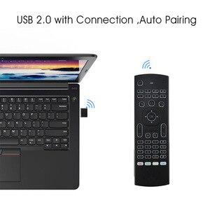 Image 4 - Controle remoto de voz mx3 MX3 L air mouse, 2.4g sem fios, teclado para x96 mini km9 a95x caixa de tv android h96 max