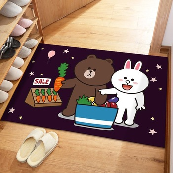 Alfombra de dibujos animados 600MM x 900MM alfombra de puerta porche alfombras...