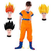 Kinder Jungen Mädchen Karneval Dragon Ball Z Kostüm Sohn Goku Perücke Kleidung Cosplay kinder Tag XMAS Party Abendkleid