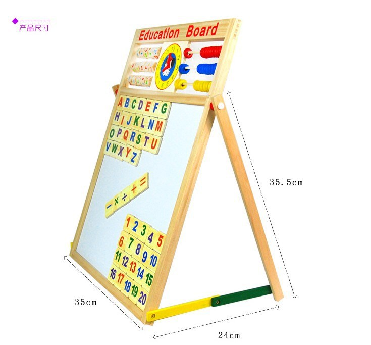 Multi-functional Doing Homework Drawing Board Early Childhood Educational CHILDREN'S Toy Blackboard 3-6-Year-Old Blackboard Doub
