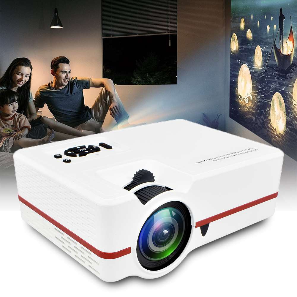Mini Projector Zoom Lumes Portable Home Theater 2000 313 Full-Hd 4K Led VS Colorful USB/VGA title=