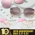 Солнцезащитные очки кошачий глаз  модные очки для водителей  большая коробка  женские солнцезащитные очки  женские очки для океана  сексуал...