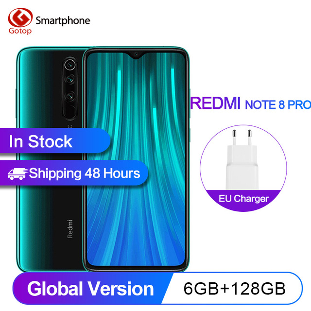 $  Global Version Xiaomi Redmi Note 8 Pro 6GB 128GB Smartphone 64MP Quad Cameras MTK Helio G90T Octa Core 6.53