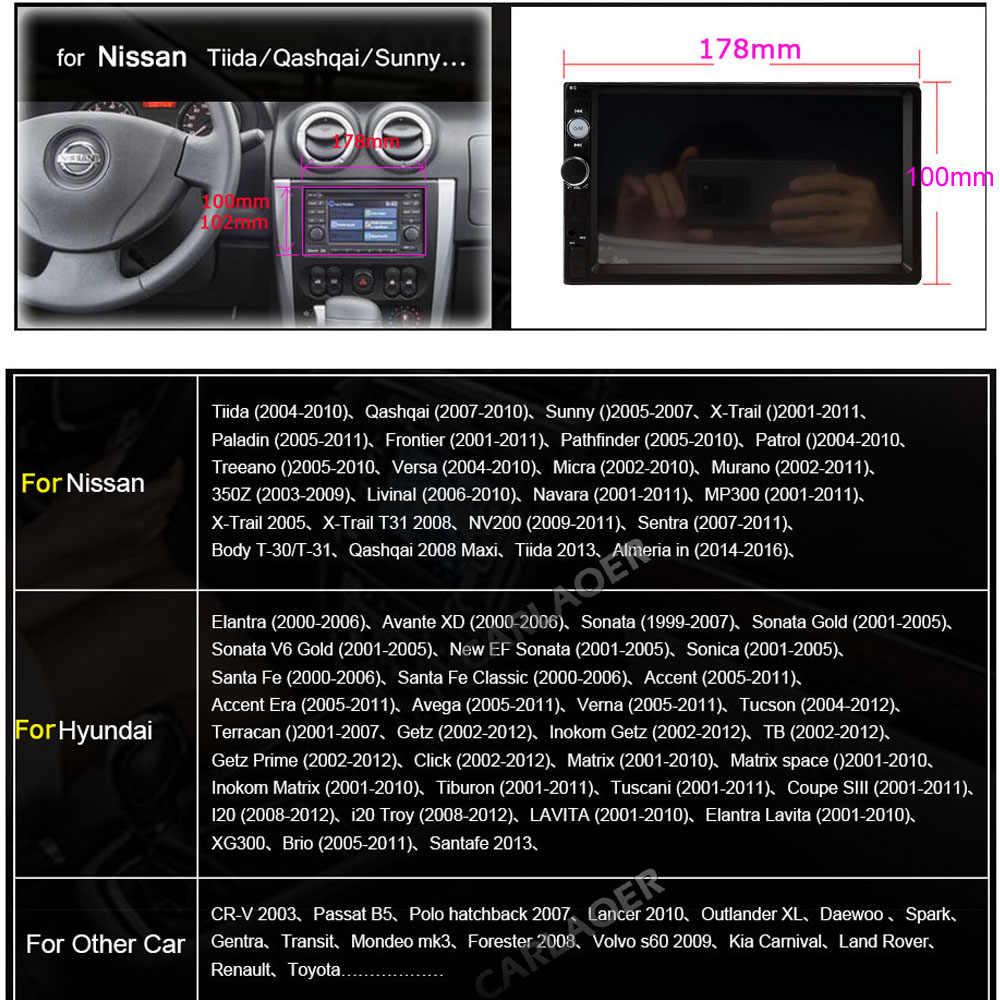 2G RAM 2Din Android радио 2 din Авторадио мультимедийный плеер Авто аудио стерео для Volkswagen Nissan Hyundai Kia toyata lada Ford