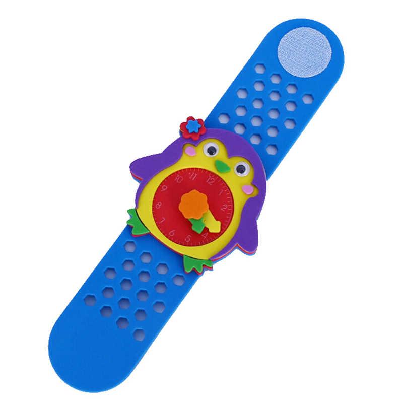 FAI DA TE 3D Schiuma EVA Mestiere Adesivo A Mano Orologio Orologio di Apprendimento Per Bambini di Scuola Materna Educative Giochi Nuovi Giocattoli 2019 Nuovo