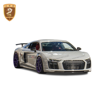 For Audi New R8 Car body kit High quality Real Carbon fiber Rear Wing Spoiler Lip Diffuser Car styling