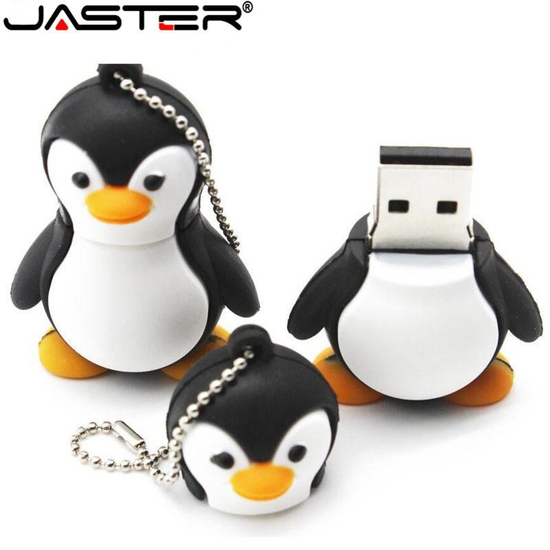 JASTER Genuine Cartoon Penguin USB Flash Drive U Disk USB Creativo Pendrive 4gb 8gb 16gb 32gb 64gb Memory Stick Real Capacity